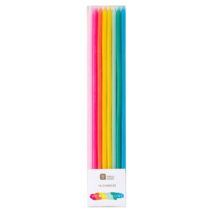 RAINBOW CANDLES from Flingers Party World Bristol Harbourside who offer a huge range of fancy dress costumes and partyware items