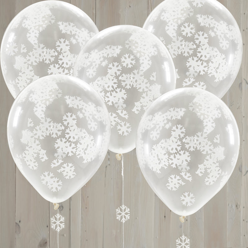 SNOWFLAKE CONFETTI BALLOONS from Flingers Party World Bristol Harbourside who offer a huge range of fancy dress costumes and partyware items