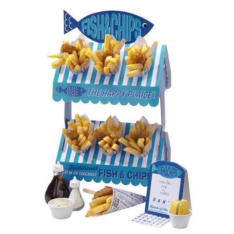 Street Stall Fish & Chip Stand from Pop Cloud Bristol who offer a huge range of partyware, wedding and event hire decorations