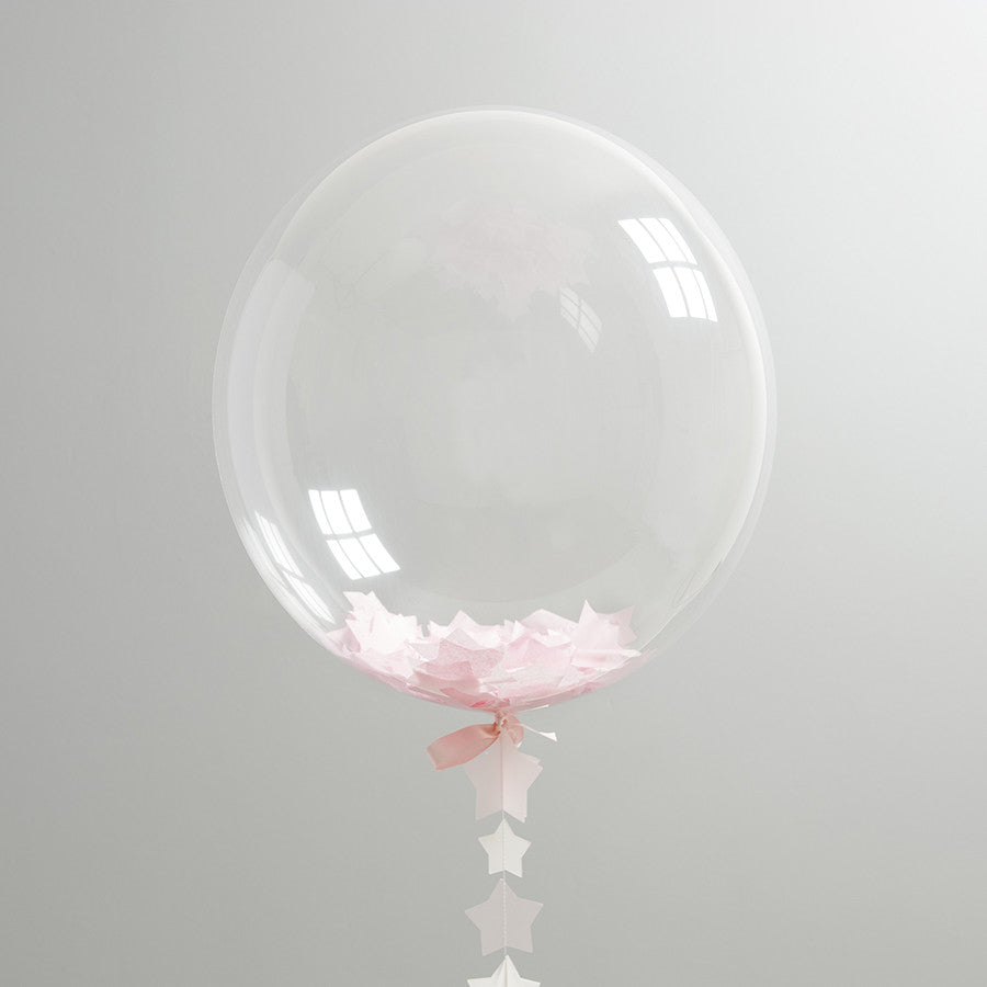 BUBBLEGUM PINK AND WHITE STAR BALLOON from Flingers Party World Bristol Harbourside who offer a huge range of fancy dress costumes and partyware items
