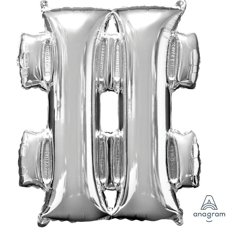 SILVER # LARGE FOIL LETTER BALLOON from Flingers Party World Bristol Harbourside who offer a huge range of fancy dress costumes and partyware items