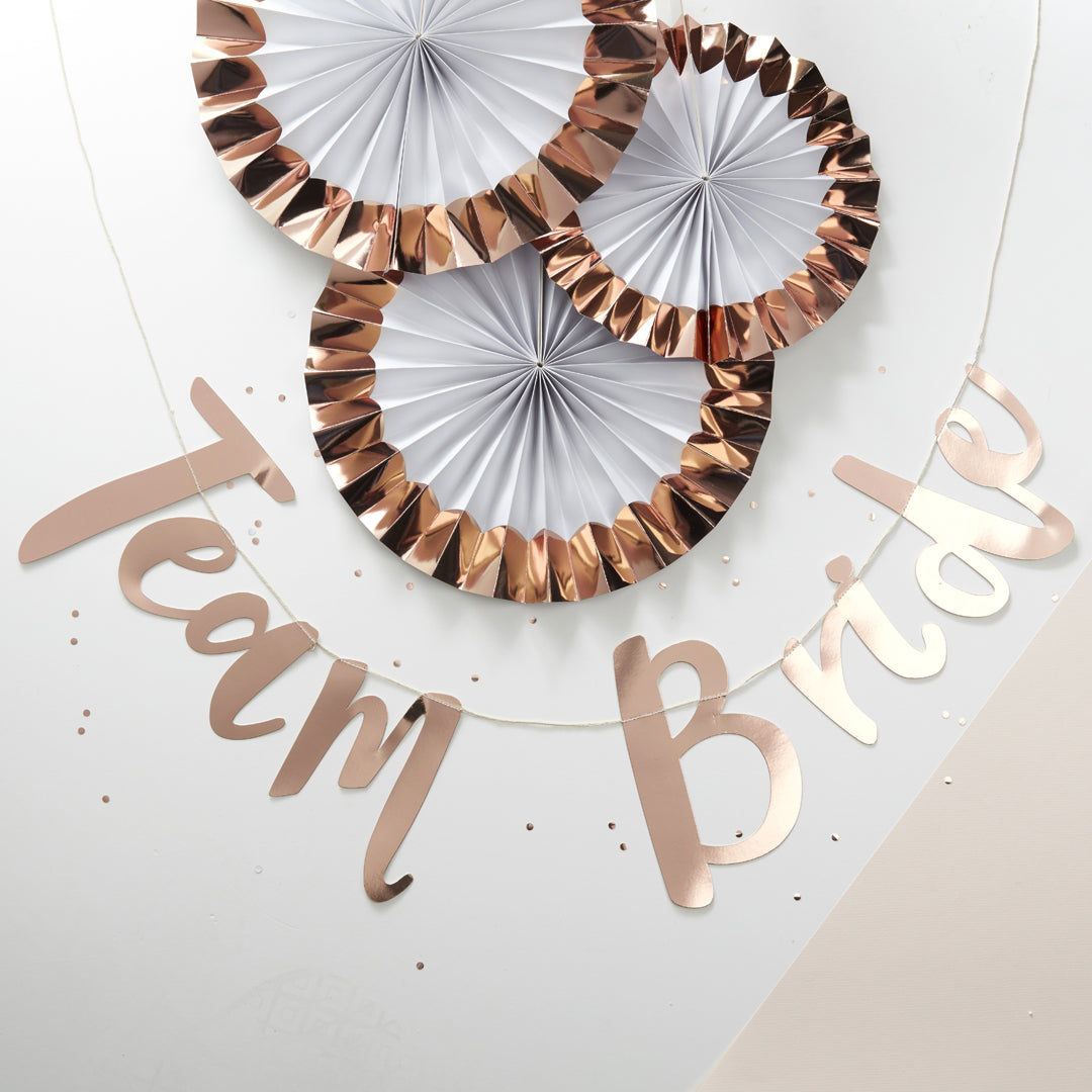 ROSE GOLD TEAM BRIDE BUNTING