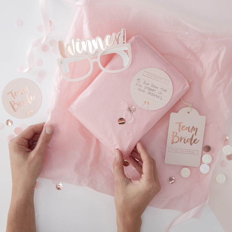 TEAM BRIDE GAME KIT from Flingers Party World Bristol Harbourside who offer a huge range of fancy dress costumes and partyware items