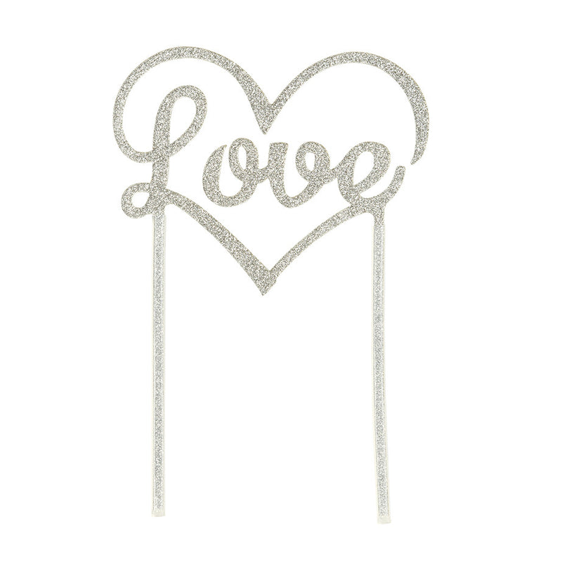 LOVE CAKE TOPPER from Flingers Party World Bristol Harbourside who offer a huge range of fancy dress costumes and partyware items