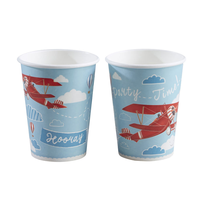 Flying High Paper Cups from Pop Cloud Bristol who offer a huge range of partyware, wedding and event hire decorations