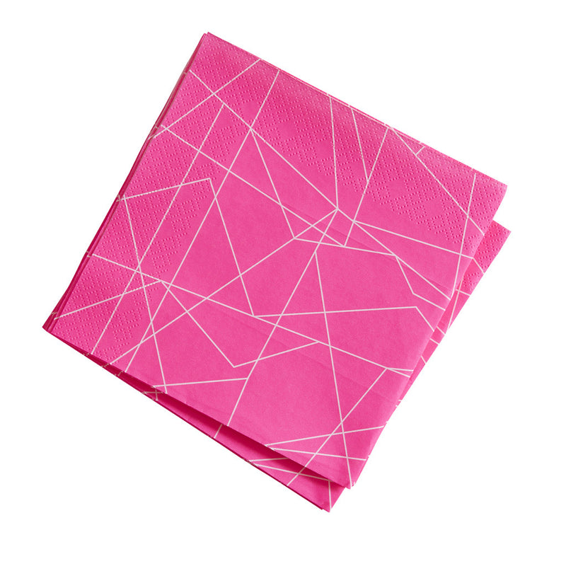 Neon Birthday Geometric Napkins from Pop Cloud Bristol who offer a huge range of partyware, wedding and event hire decorations