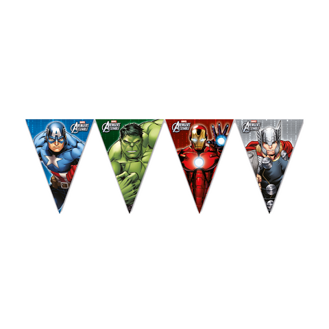 Banner - Triangle Flag (9) Avengers Power from Pop Cloud Bristol who offer a huge range of partyware, wedding and event hire decorations
