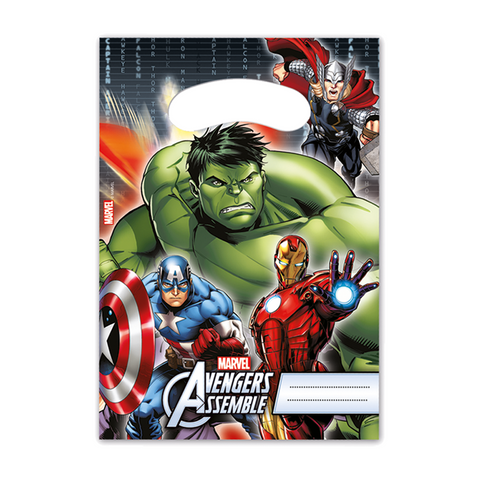 Party Bags 6ct Avengers Power from Pop Cloud Bristol who offer a huge range of partyware, wedding and event hire decorations