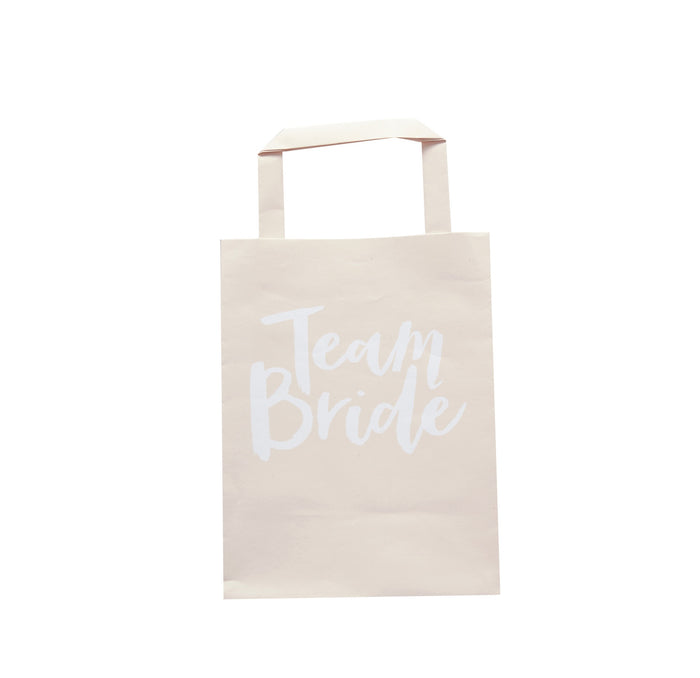 TEAM BRIDE PAPER PARTY BAGS from Flingers Party World Bristol Harbourside who offer a huge range of fancy dress costumes and partyware items