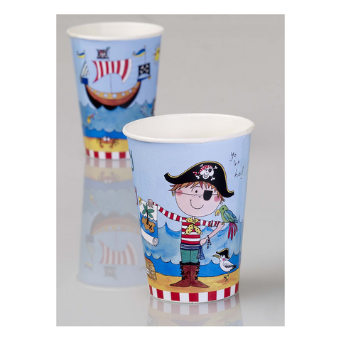 Rachel Ellen Pirate Cups Party Paper Cups 8CT from Pop Cloud Bristol who offer a huge range of partyware, wedding and event hire decorations