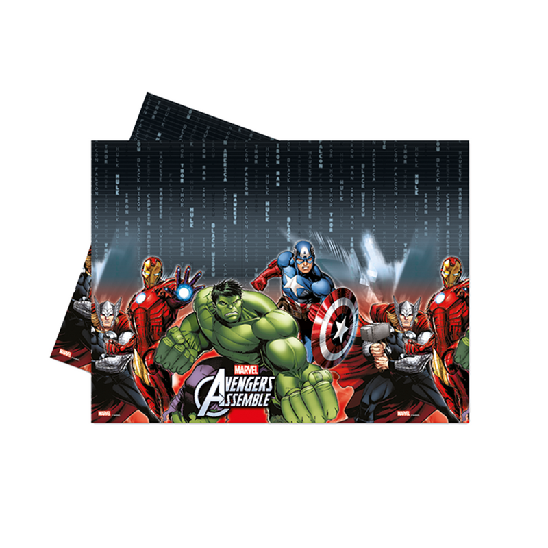 AVENGERS POWER PARTY TABLE COVER from Flingers Party World Bristol Harbourside who offer a huge range of fancy dress costumes and partyware items