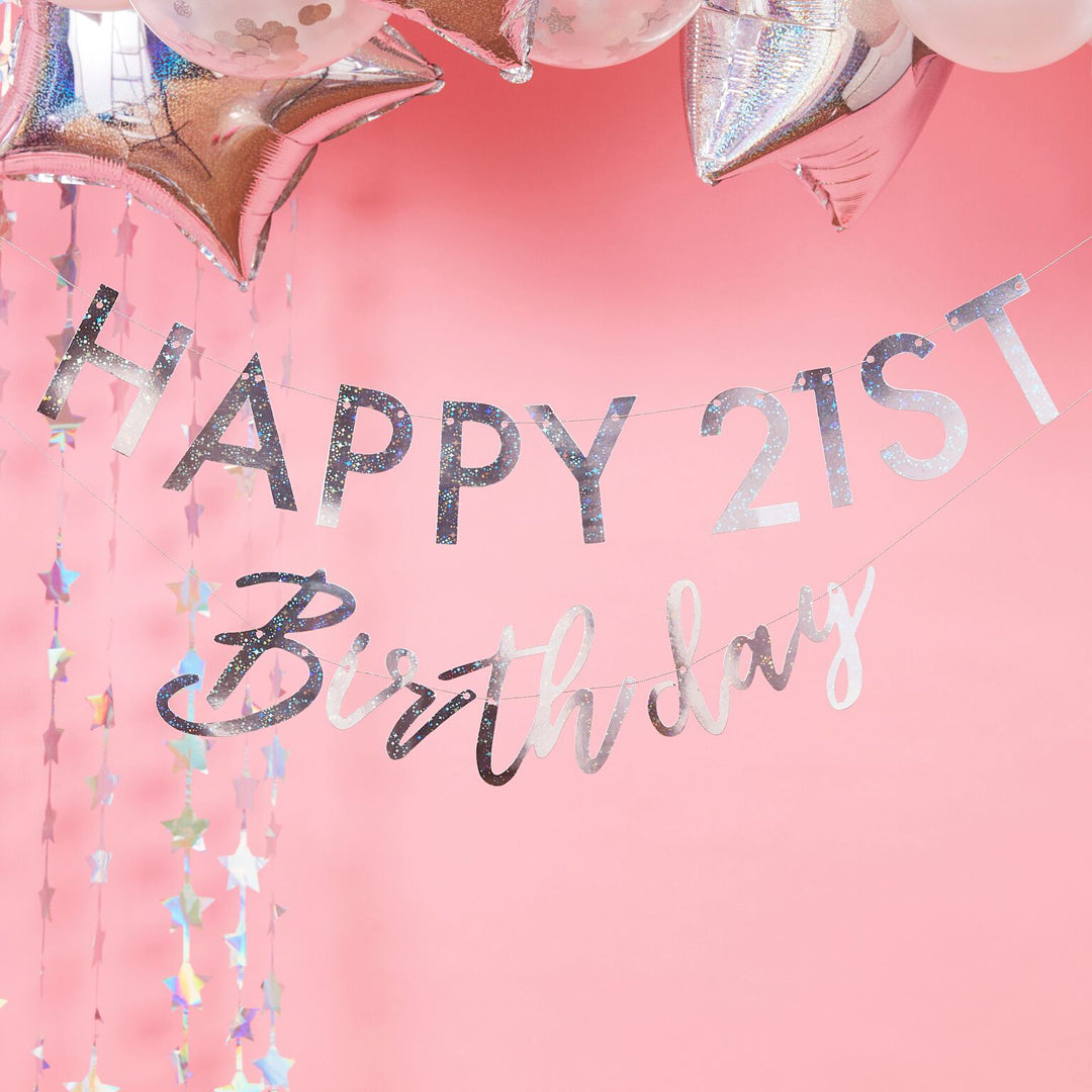PERSONALISED HAPPY BIRTHDAY BUNTING from Flingers Party World Bristol Harbourside who offer a huge range of fancy dress costumes and partyware items