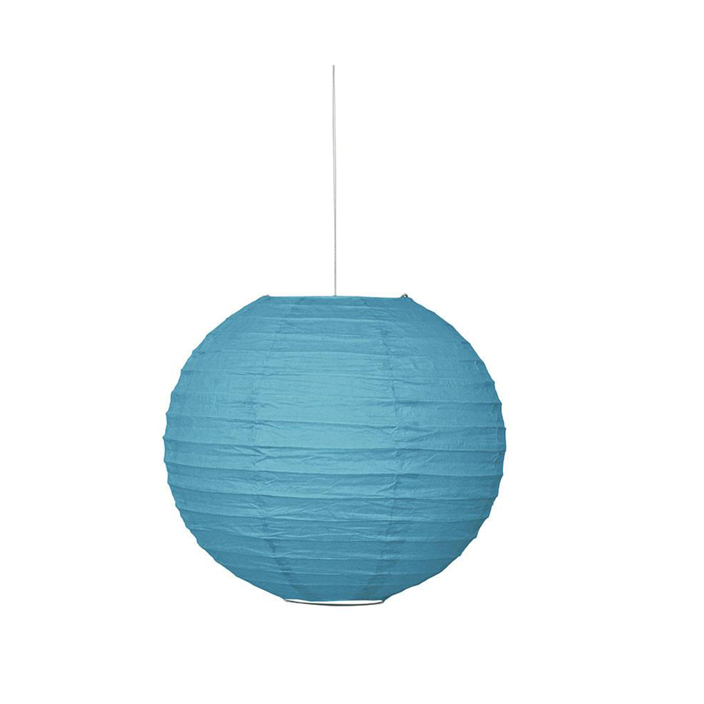 "Lantern Round 10"" CB Teal from Pop Cloud Bristol who offer a huge range of partyware, wedding and event hire decorations"