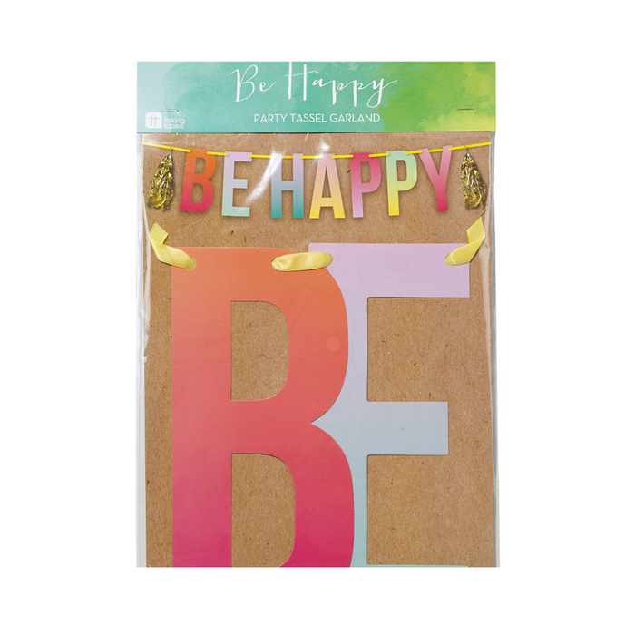 BE HAPPY PARTY TASSEL GARLAND from Flingers Party World Bristol Harbourside who offer a huge range of fancy dress costumes and partyware items