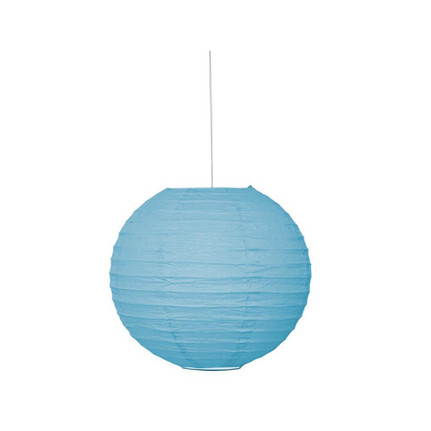 "Lantern Round 10"" Powder Blue from Pop Cloud Bristol who offer a huge range of partyware, wedding and event hire decorations"
