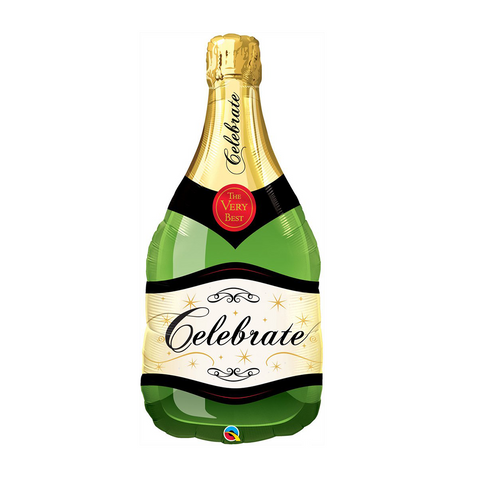 "Celebrate Bubble Wine Bottle 39"" from Pop Cloud Bristol who offer a huge range of partyware, wedding and event hire decorations"