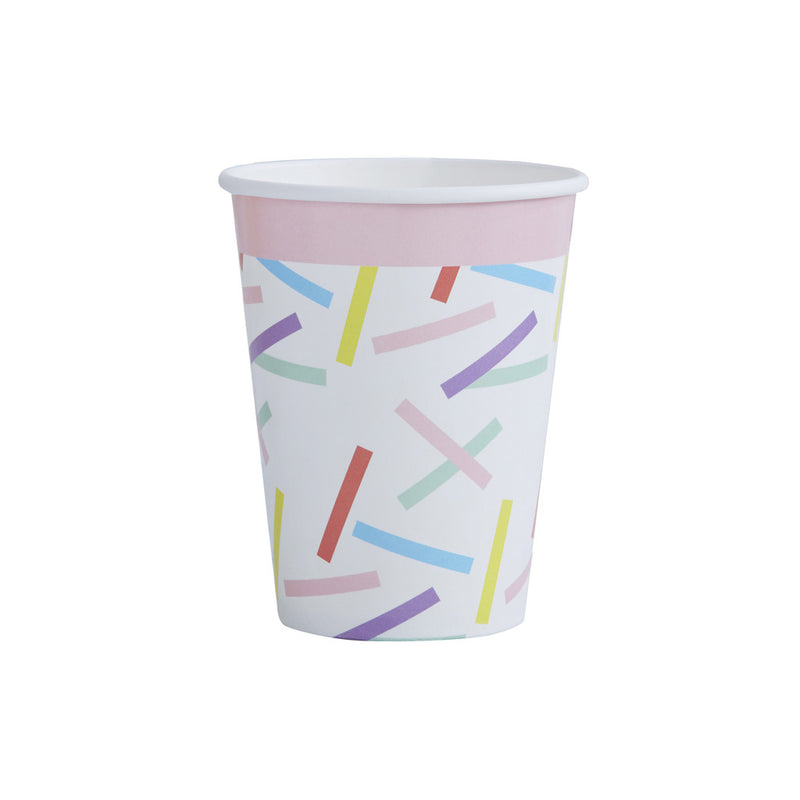 Pick & Mix Sprinkles Paper Cups from Pop Cloud Bristol who offer a huge range of partyware, wedding and event hire decorations