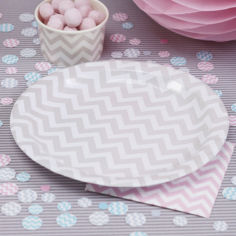 Chevron Divine Paper Plates from Pop Cloud Bristol who offer a huge range of partyware, wedding and event hire decorations