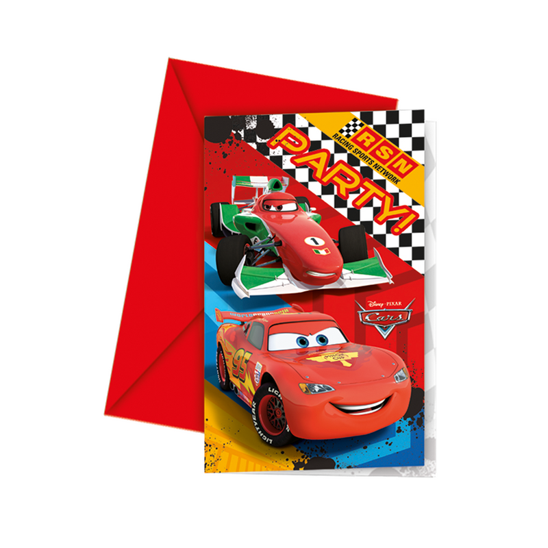 Invitations & Envelopes 6ct Disney/Pixar Cars from Pop Cloud Bristol who offer a huge range of partyware, wedding and event hire decorations