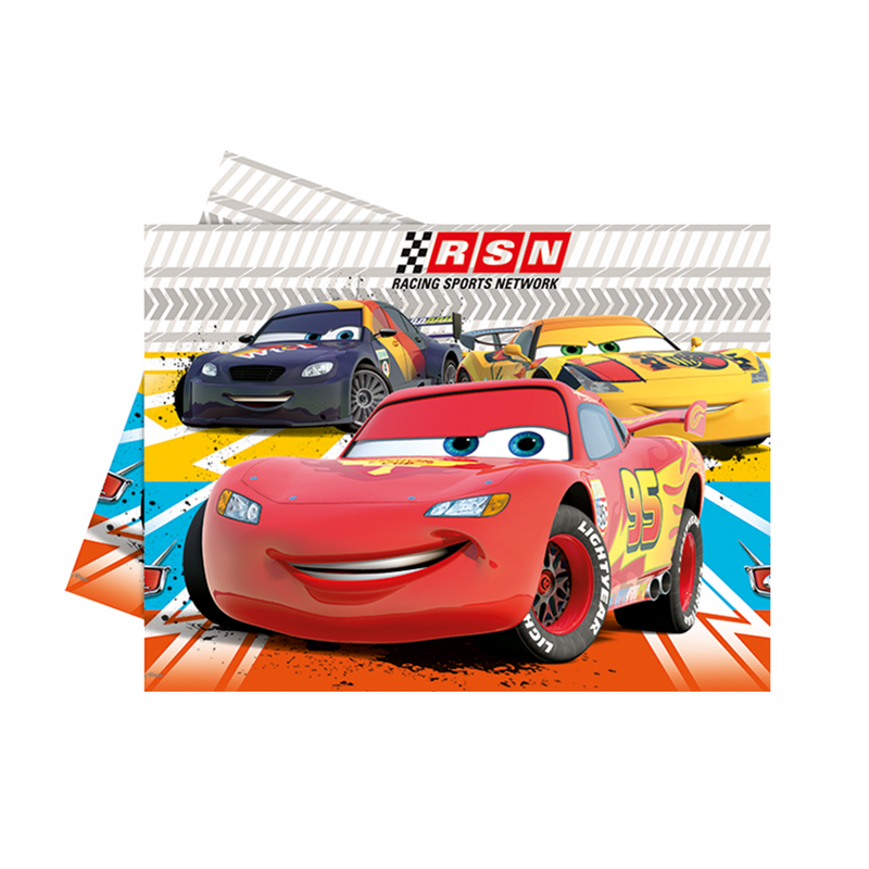 PIXAR CARS PARTY TABLE COVER from Flingers Party World Bristol Harbourside who offer a huge range of fancy dress costumes and partyware items