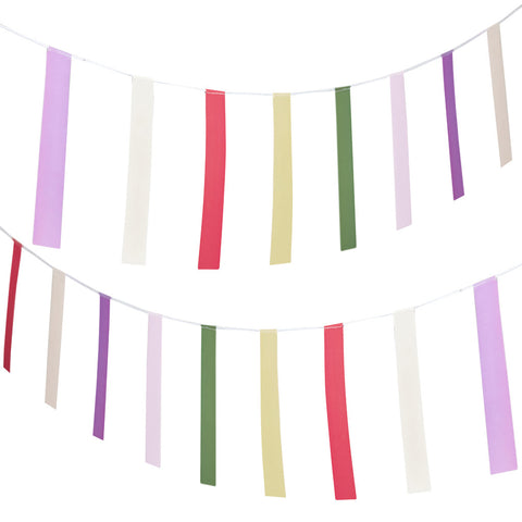 Colourful Mini Bunting from Pop Cloud Bristol who offer a huge range of partyware, wedding and event hire decorations