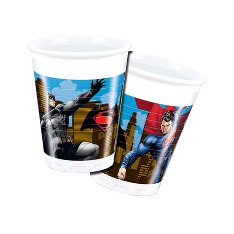 Batman VS Superman Plastic Cups 200ml from Pop Cloud Bristol who offer a huge range of partyware, wedding and event hire decorations