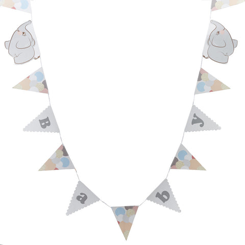 Little One Bunting from Pop Cloud Bristol who offer a huge range of partyware, wedding and event hire decorations