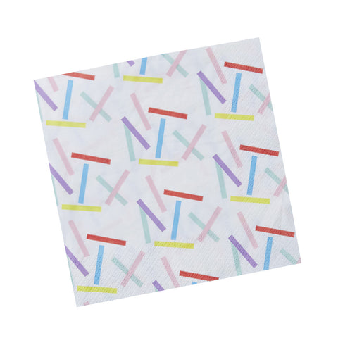 Pick & Mix Sprinkles Napkins from Pop Cloud Bristol who offer a huge range of partyware, wedding and event hire decorations