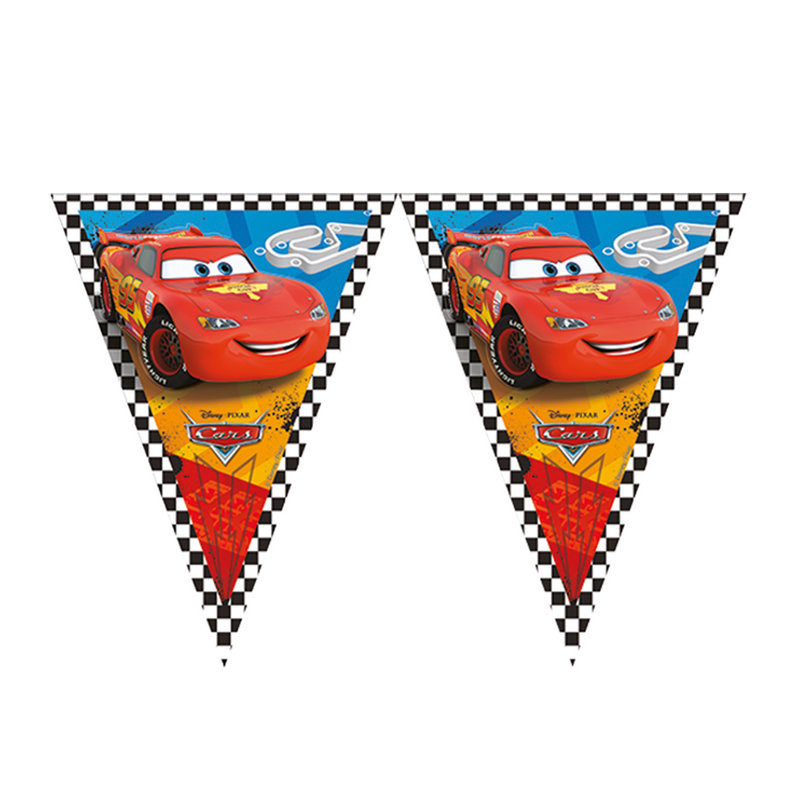 DISNEY/PIXAR CARS TRIANGLE FLAG BANNER from Flingers Party World Bristol Harbourside who offer a huge range of fancy dress costumes and partyware items