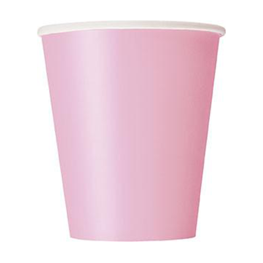 LOVELY PINK 14 9OZ CUPS from Flingers Party World Bristol Harbourside who offer a huge range of fancy dress costumes and partyware items