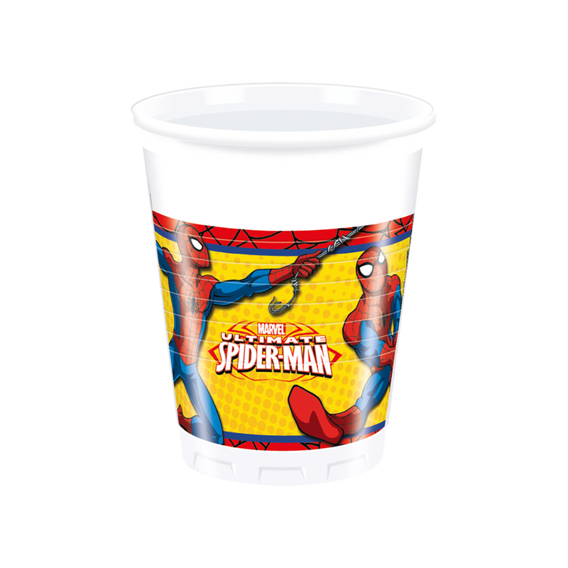 ULTIMATE SPIDERMAN PARTY PLASTIC CUPS from Flingers Party World Bristol Harbourside who offer a huge range of fancy dress costumes and partyware items