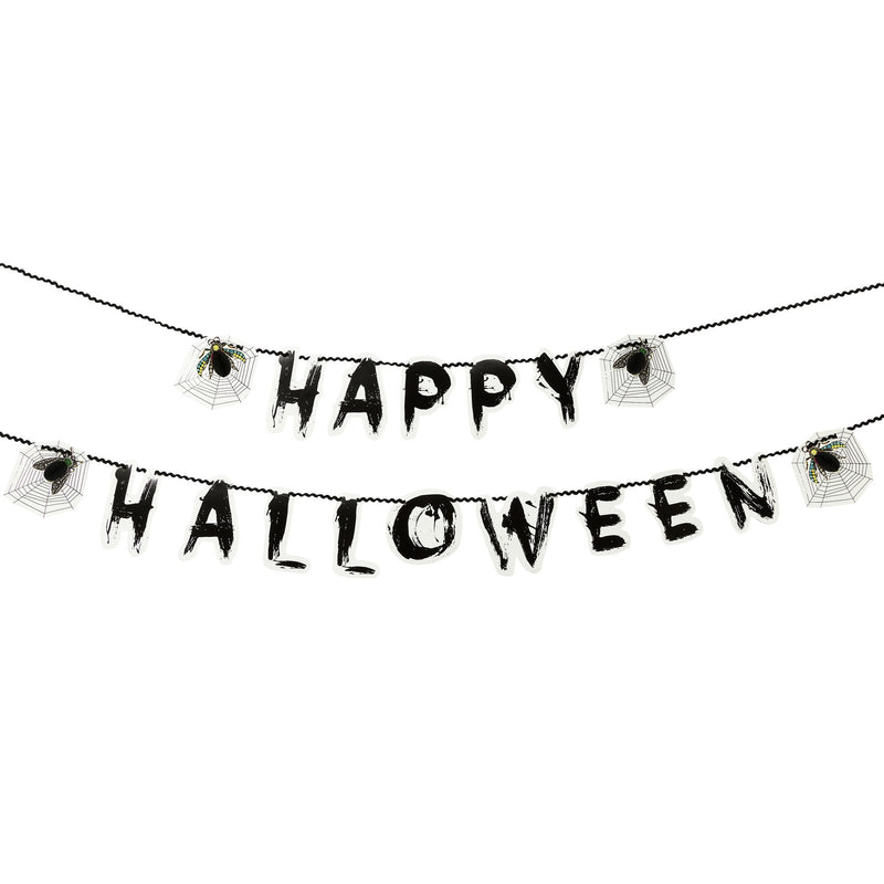 SKELETON CREW HAPPY HALLOWEEN GARLAND from Flingers Party World Bristol Harbourside who offer a huge range of fancy dress costumes and partyware items