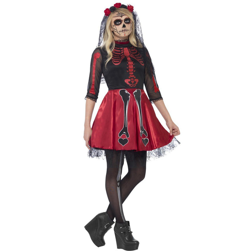 DAY OF THE DEAD DIVA COSTUME from Flingers Party World Bristol Harbourside who offer a huge range of fancy dress costumes and partyware items
