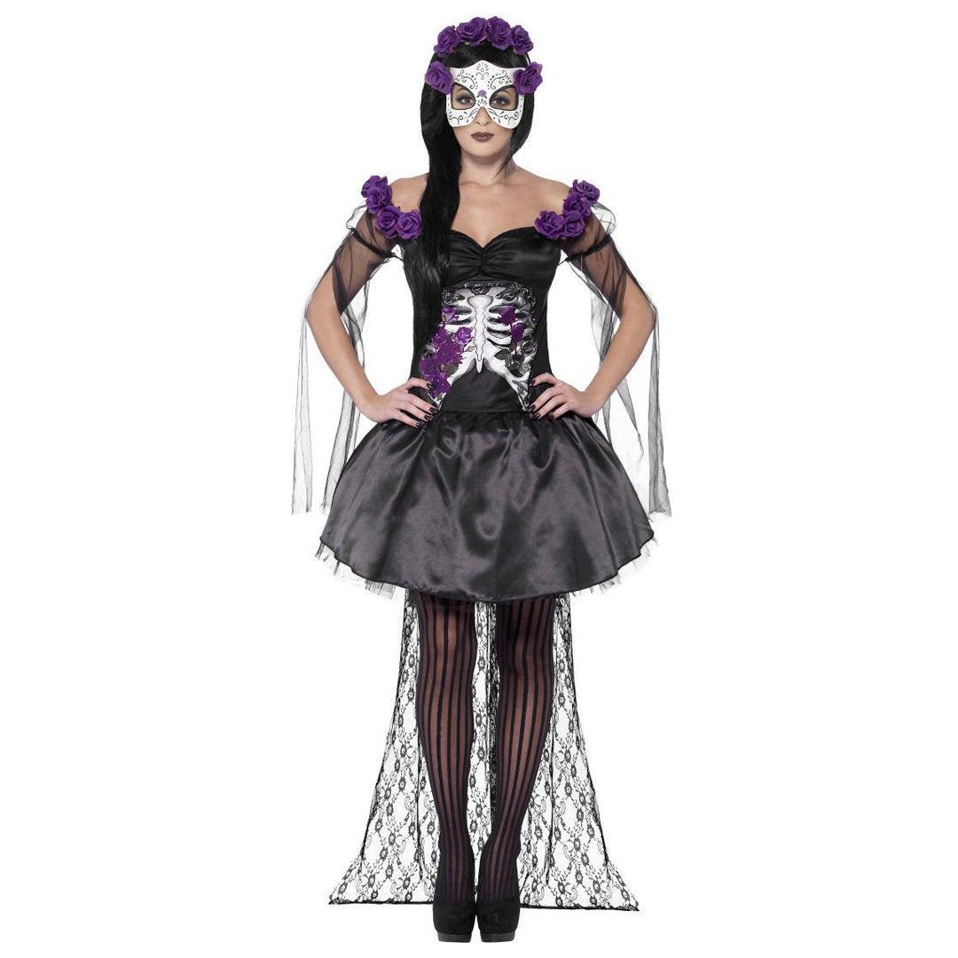 DAY OF THE DEAD SENORITA COSTUME from Flingers Party World Bristol Harbourside who offer a huge range of fancy dress costumes and partyware items