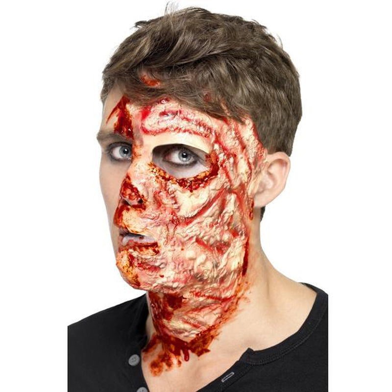 BURNT FACE SCAR from Flingers Party World Bristol Harbourside who offer a huge range of fancy dress costumes and partyware items