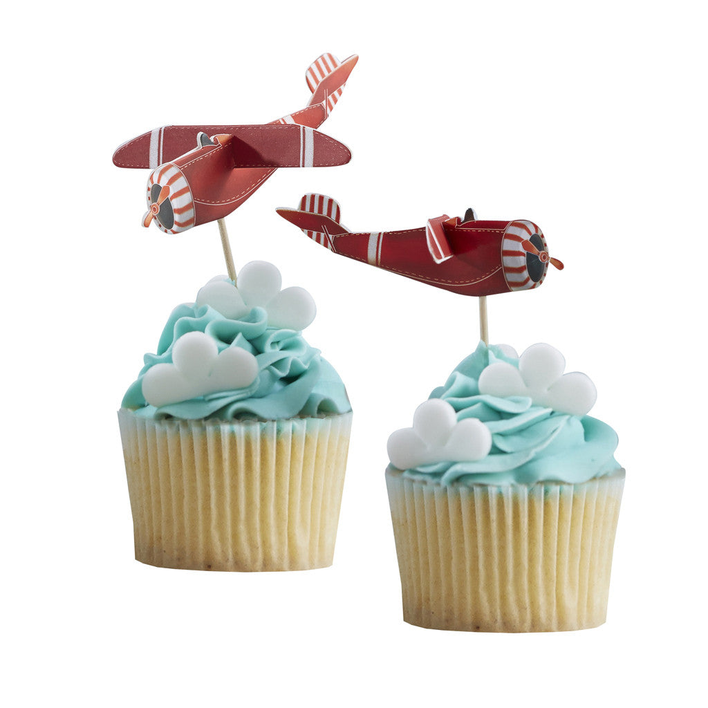 Flying High Cupcake Sticks from Pop Cloud Bristol who offer a huge range of partyware, wedding and event hire decorations