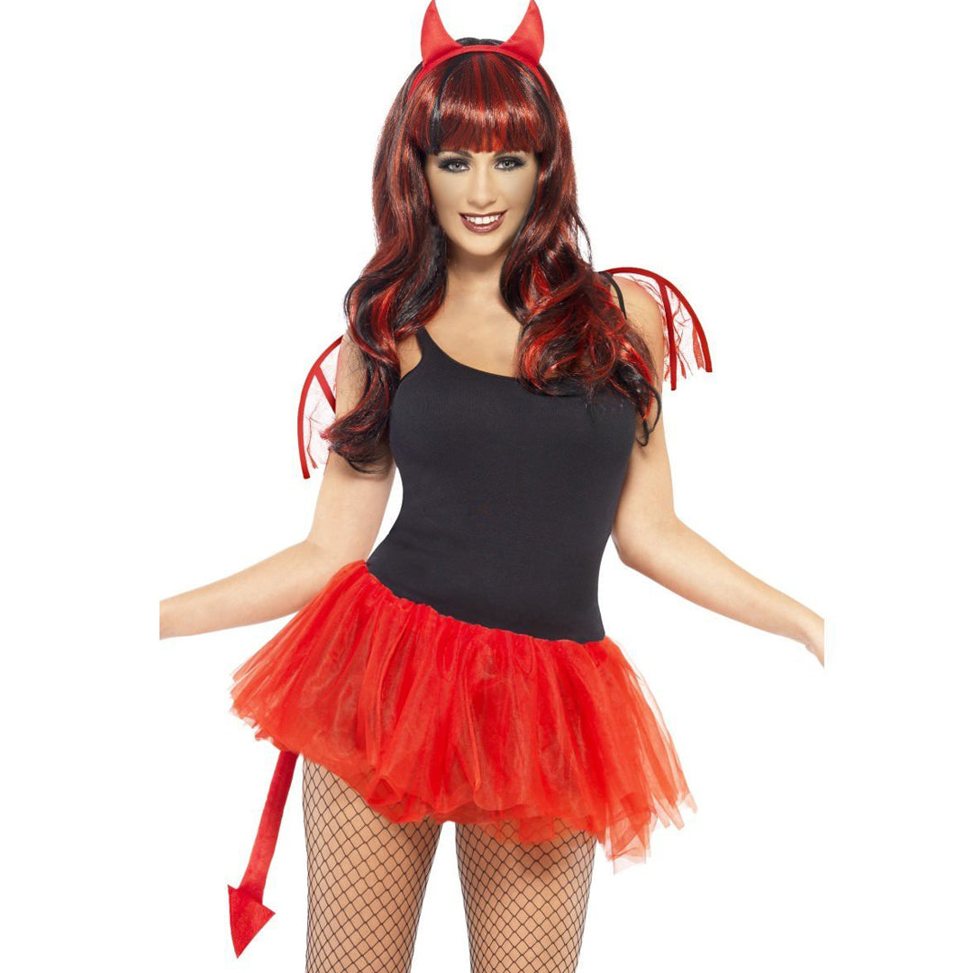 DELICIOUS DEVIL KIT from Flingers Party World Bristol Harbourside who offer a huge range of fancy dress costumes and partyware items