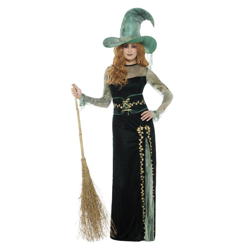 DELUXE EMERALD WITCH COSTUME from Flingers Party World Bristol Harbourside who offer a huge range of fancy dress costumes and partyware items