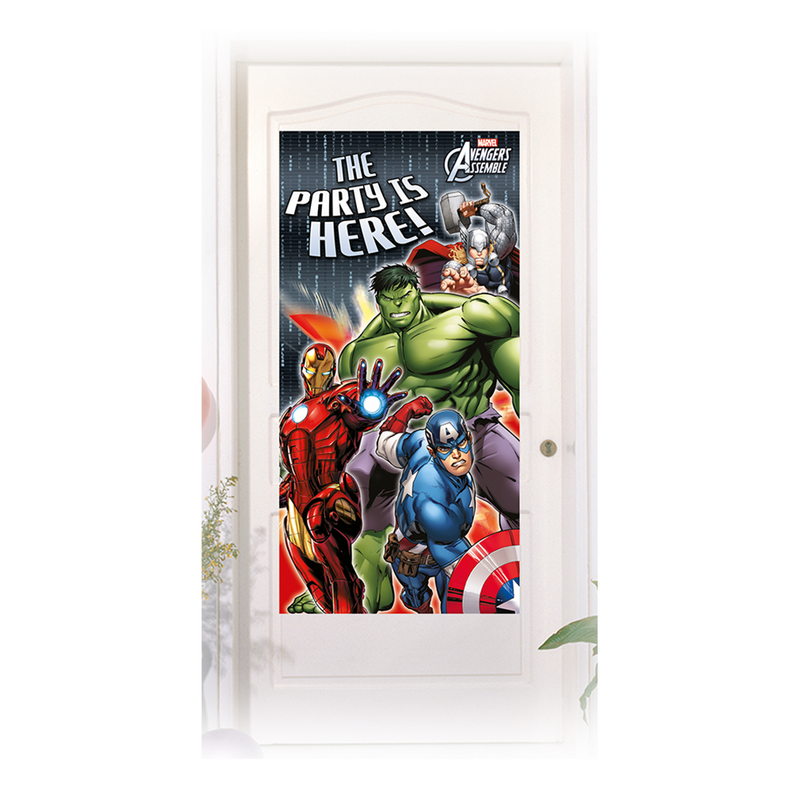AVENGERS POWER DOOR BANNER from Flingers Party World Bristol Harbourside who offer a huge range of fancy dress costumes and partyware items