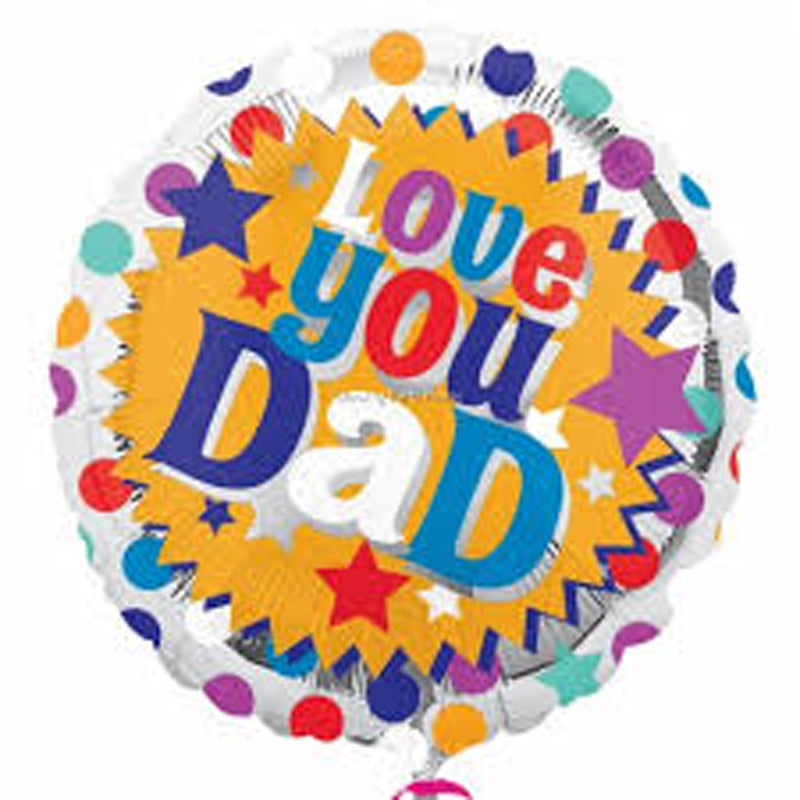 LOVE YOU DAD FOIL BALLOON from Flingers Party World Bristol Harbourside who offer a huge range of fancy dress costumes and partyware items