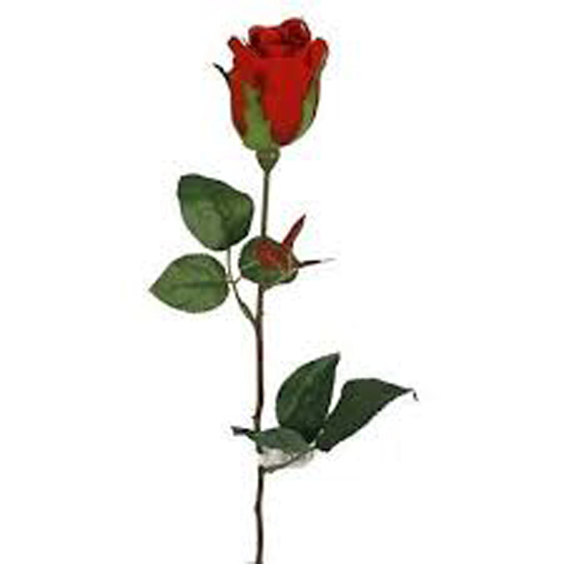 SINGLE RED FABRIC ROSE from Flingers Party World Bristol Harbourside who offer a huge range of fancy dress costumes and partyware items
