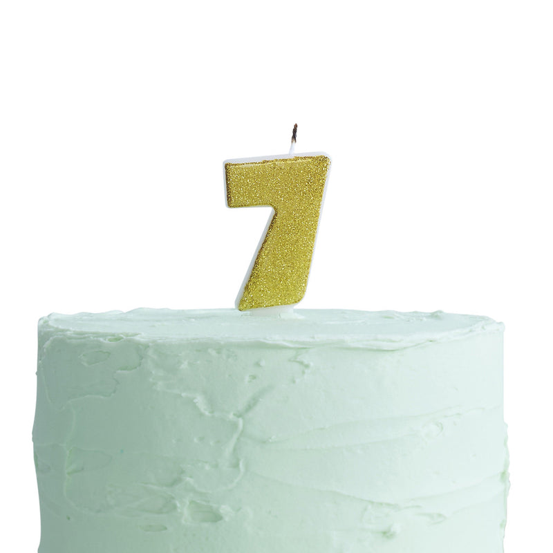 Pick & Mix Candle Number 7 from Pop Cloud Bristol who offer a huge range of partyware, wedding and event hire decorations