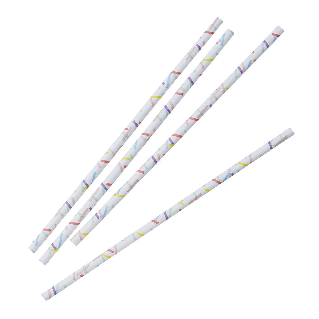 Pick & Mix Sprinkles Straws from Pop Cloud Bristol who offer a huge range of partyware, wedding and event hire decorations