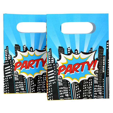 Pop Art Party Bags from Pop Cloud Bristol who offer a huge range of partyware, wedding and event hire decorations