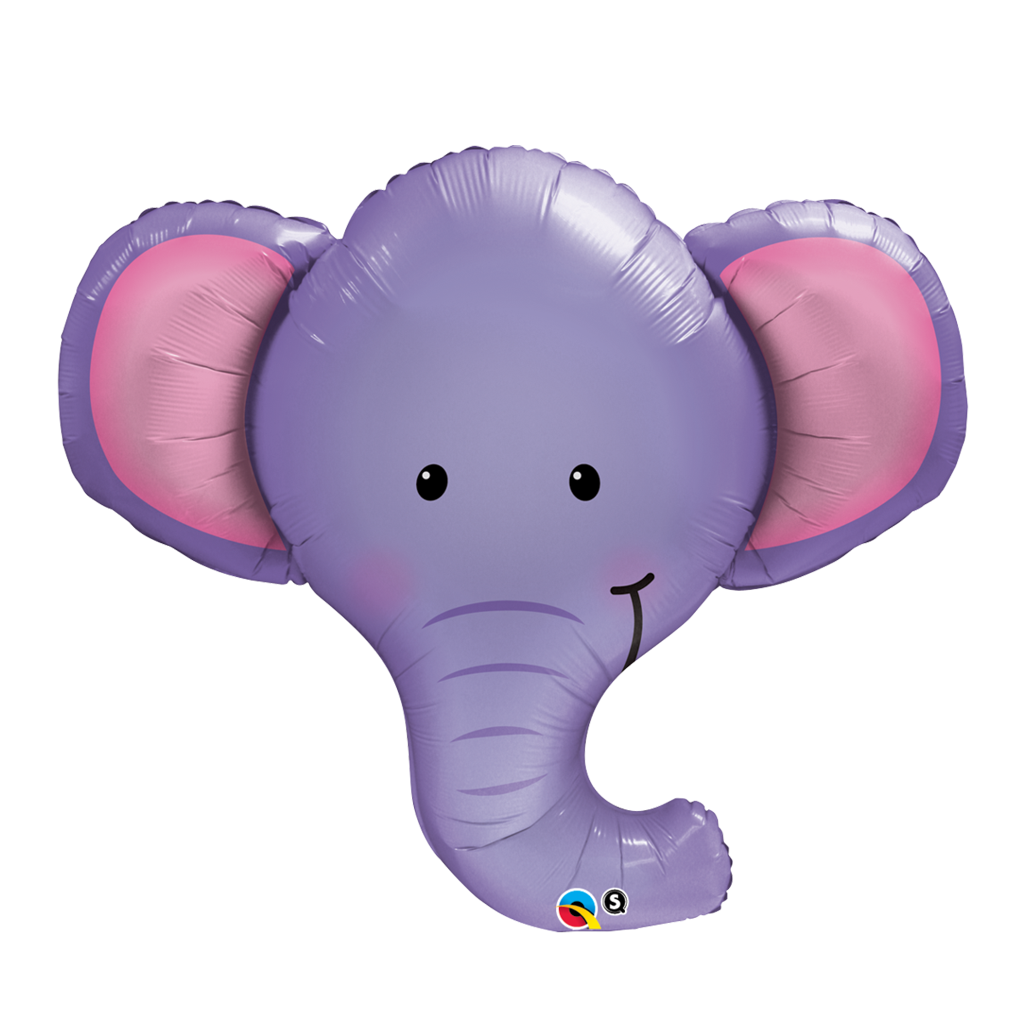"Ellie The Elephant 39"" Shape from Pop Cloud Bristol who offer a huge range of partyware, wedding and event hire decorations"