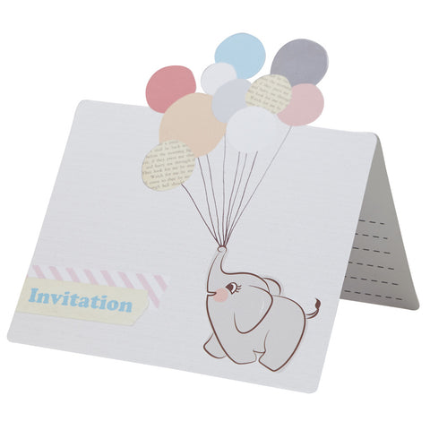 Little One Invitations from Pop Cloud Bristol who offer a huge range of partyware, wedding and event hire decorations