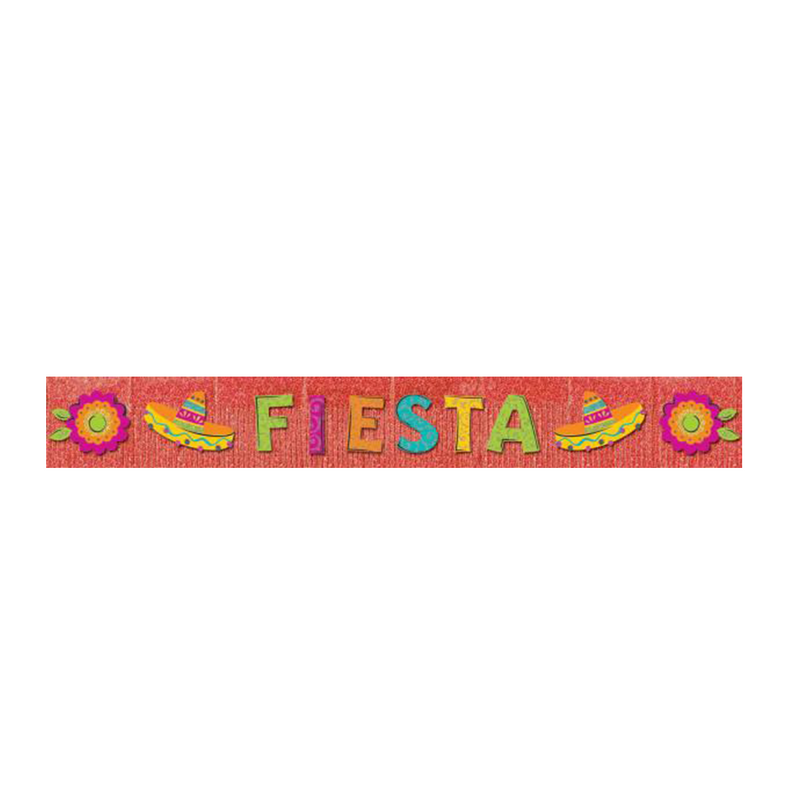 GIANT GLITTER FIESTA BANNER from Flingers Party World Bristol Harbourside who offer a huge range of fancy dress costumes and partyware items
