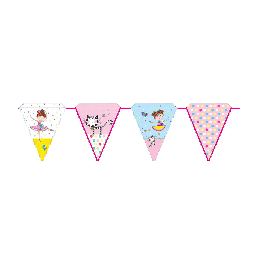 Rachel Ellen Ballerina Bunting 01CT from Pop Cloud Bristol who offer a huge range of partyware, wedding and event hire decorations