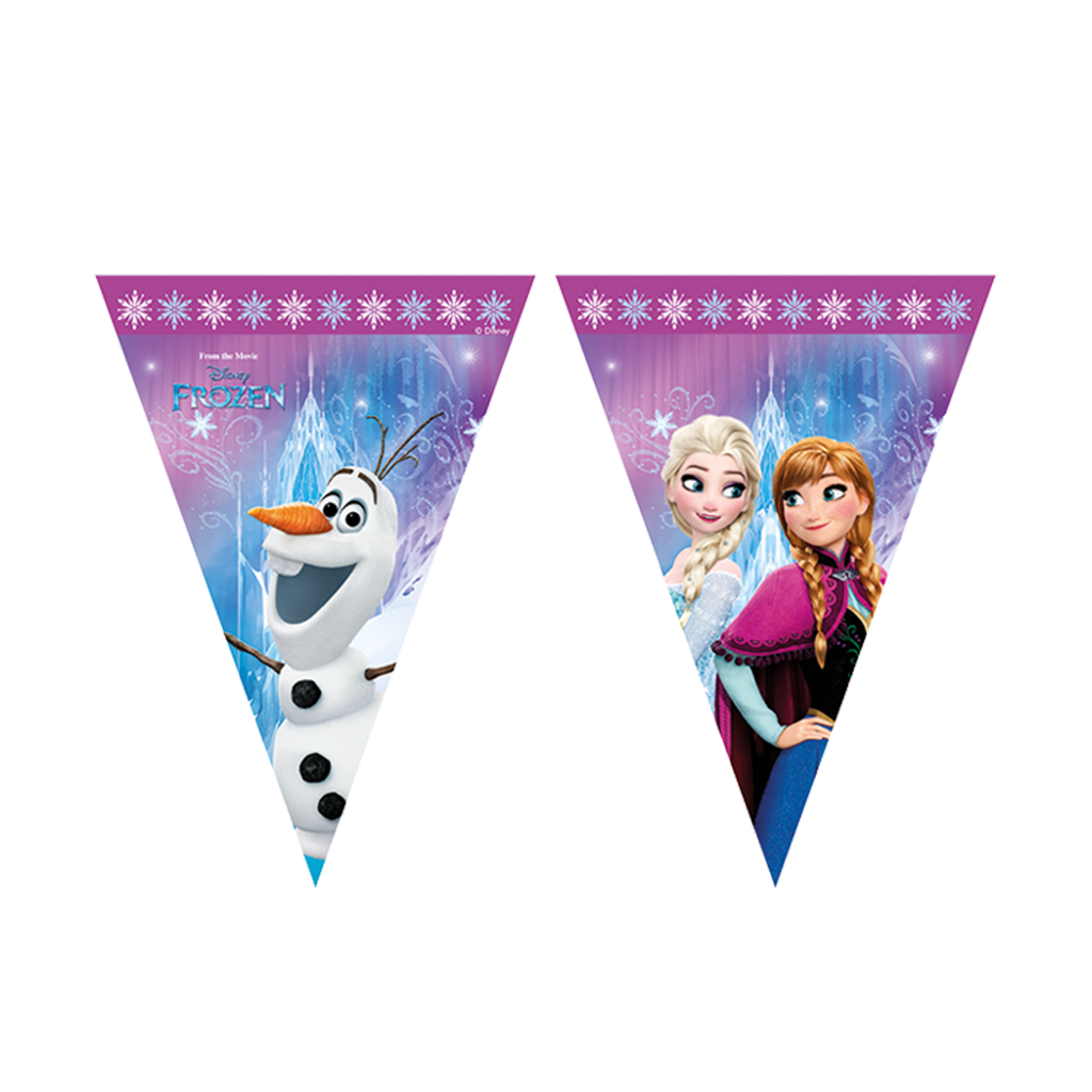 BANNER - TRIANGLE FLAG (9) DISNEY FROZEN from Flingers Party World Bristol Harbourside who offer a huge range of fancy dress costumes and partyware items