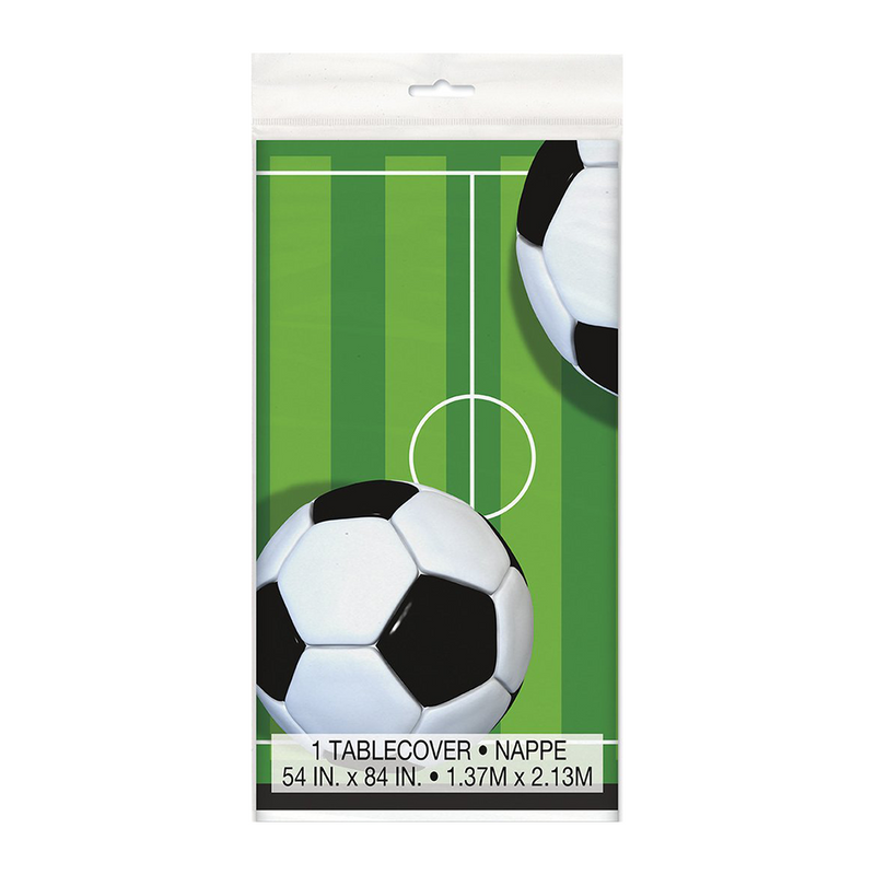 3D SOCCER PLASTIC TABLECOVER from Flingers Party World Bristol Harbourside who offer a huge range of fancy dress costumes and partyware items